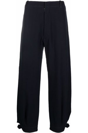 Maison Margiela Belted-ankles loose-fit trousers