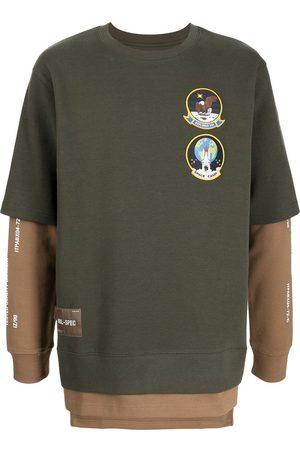 Izzue Logo-patch layered sweatshirt