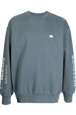 Izzue Logo-patch crew neck sweatshirt