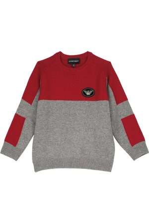 Emporio Armani Wool and cashmere-blend crewneck sweater