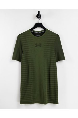 Under Armour Seamless back wordmark t-shirt in -Green