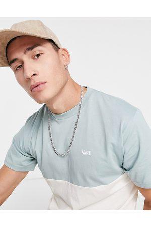 Vans Colourblock t-shirt in grey/cream