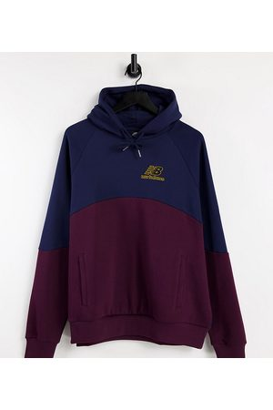 New Balance Baseball logo hoodie in and navy Exclusive to ASOS-Red