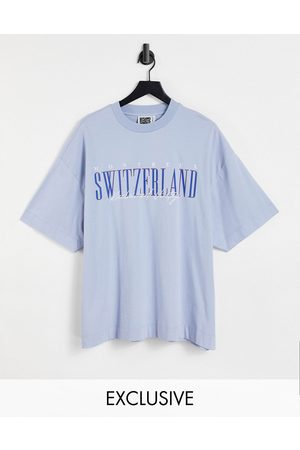 Reclaimed Men Short Sleeve - Inspired organic cotton t-shirt with switzerland graphic in
