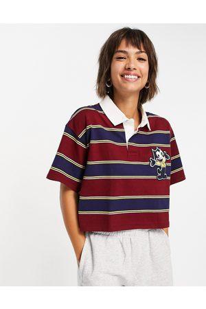 Levi's Women Shirts - X Felix stripe crop rugby shirt in