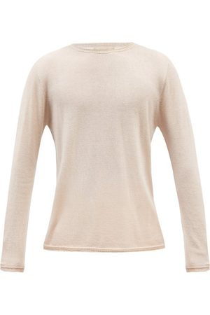 120% Lino Men Sweaters - 120% Lino - Rolled-edge Cashmere Sweater - Mens