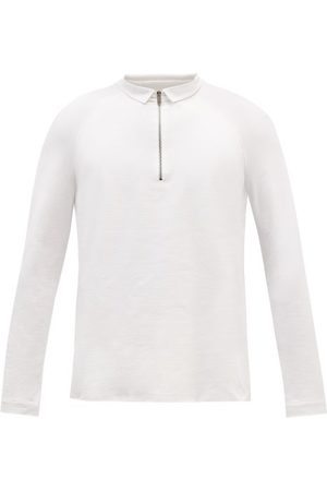 Jacques Zipped Long-sleeved Jersey Polo Shirt - Mens