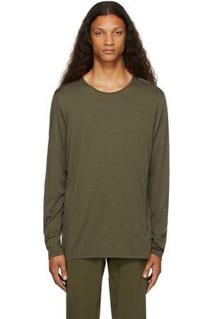 Veilance Khaki Wool Frame Long Sleeve T-Shirt