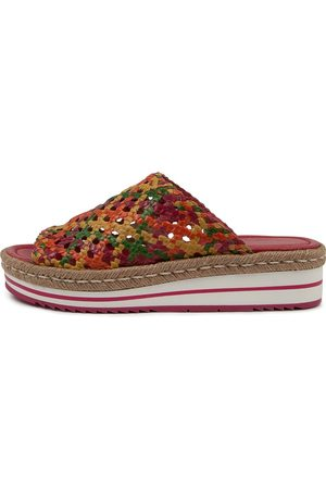 Django & Juliette Alois Dj Bright Multi Sandals Womens Shoes Casual Sandals Flat Sandals