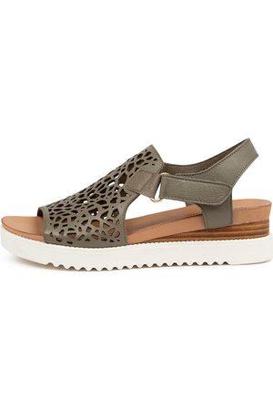 Django & Juliette Ansh Dj Olive Sole Sandals Womens Shoes Casual Sandals Flat Sandals