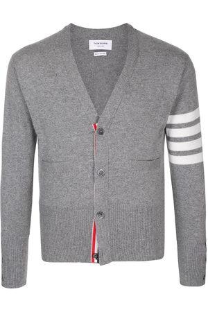 Thom Browne Men Cardigans - 4-Bar V-neck cashmere cardigan