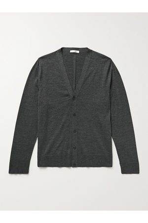 The Row Men Cardigans - Crispin Slim-Fit Wool and Silk-Blend Cardigan