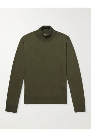The Row Men Sweaters - Emile Wool and Silk-Blend Rollneck Sweater
