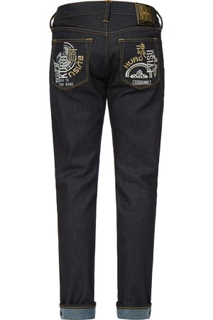 Evisu Men Jeans - Hannya and Kamon Embroidered Carrot Fit Jeans #2017