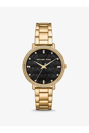 Michael Kors MK Pyper Pavé -Tone Logo Watch