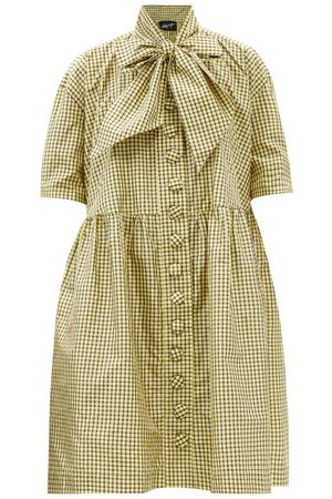 Charles Jeffrey Loverboy Single-breasted Tartan Cotton-twill Jacket - Womens - Multi