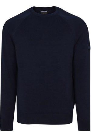 Barbour International Men Sweaters - Cotton Crew Neck Sweater Navy