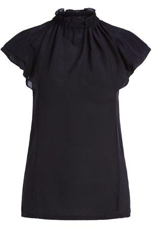 Set Fashion Women Short Sleeve - Set High Neck Frill Tee