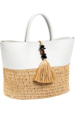 Serena Uziyel Women Tote Bags - Melita Off- & Natural Large Round Tote Bag
