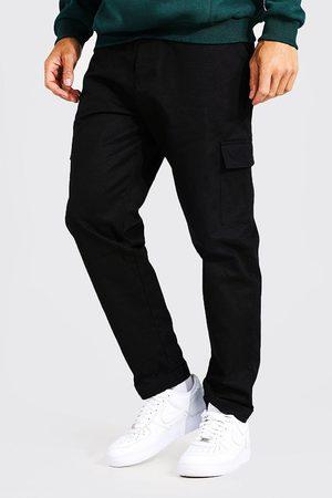 Boohoo Mens Tall Straight Leg Twill Cargo Trouser