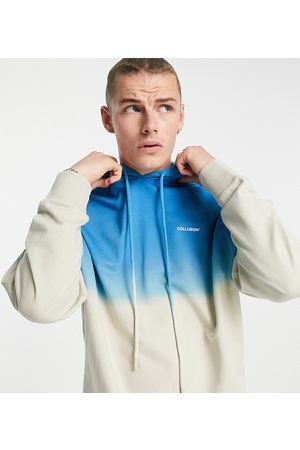 Collusion Hoodie with ombre wash co-ord-Blue
