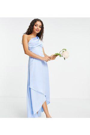 TFNC Bridesmaid one shoulder maxi dress in