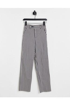 Levi's Straight leg pants in plaid-Multi
