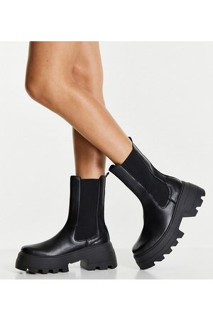 ASOS Wide Fit Ada chunky Chelsea boots in