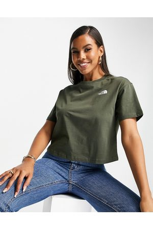 The North Face Simple Dome cropped t-shirt in -Green