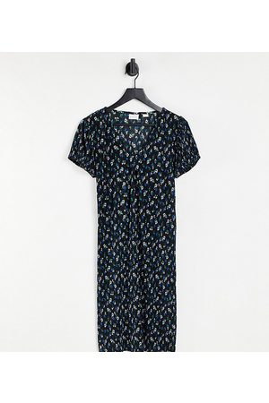 Mama Licious Mamalicious puff sleeve mini dress in floral-Multi