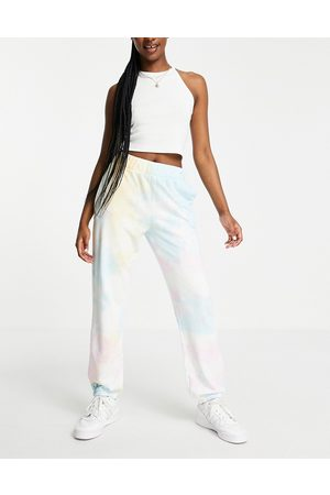 Pieces Trackies co-ord in tie-dye print