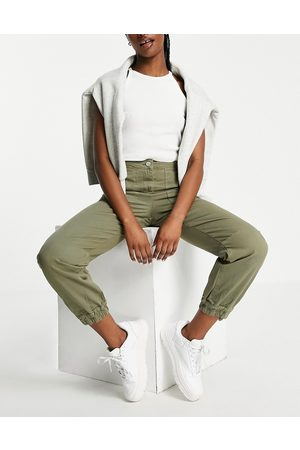 Whistles High waist utility pants with exposed pockets in -Green