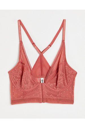 Gossard Boho lace longline bra in dusy cedar-Orange