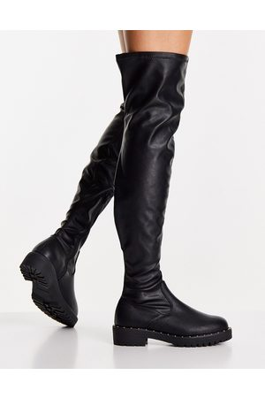 ASOS Women Knee High Boots - Kally flat over-the-knee boots in