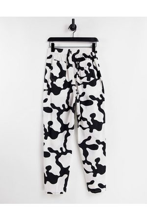 Obey Relaxed pants in monotone print co-ord-Multi