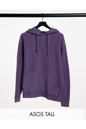 ASOS Tall oversized washed purple hoodie in reverse loopback