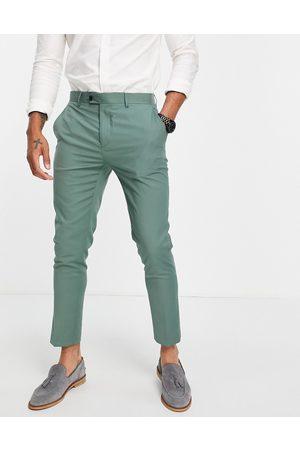 Gianni Feraud Skinny fit suit pants-Green