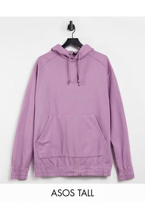 ASOS Tall oversized hoodie in washed purple