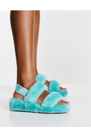 UGG Oh Yeah flat sandals in tide pool green