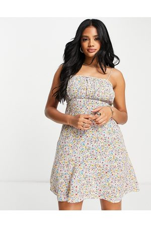 Accessorize Ruched mini dress in floral ditsy print