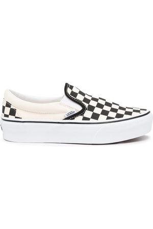Vans Flat Shoes - Checkerboard slip-on sneakers