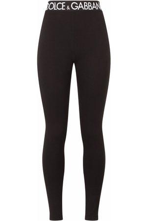 Dolce & Gabbana Stretch-fit logo waistband leggings