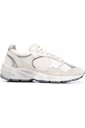 Golden Goose Panelled leather trainers