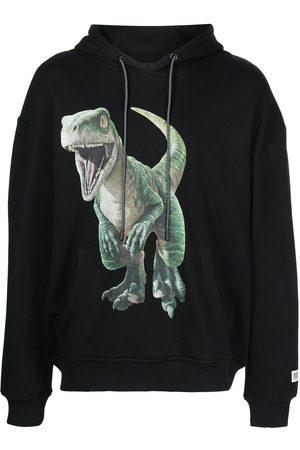 MOSTLY HEARD RARELY SEEN Men Hoodies - Dino-print drawstring hoodie