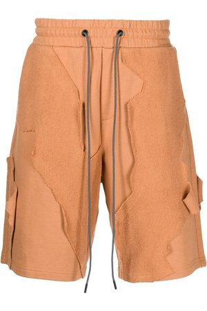 MOSTLY HEARD RARELY SEEN Patchwork drawstring shorts