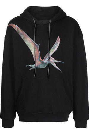 MOSTLY HEARD RARELY SEEN Pteranodon-print drawstring hoodie
