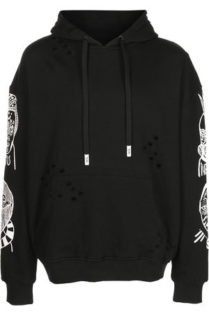 Haculla Graphic-print distressed hoodie