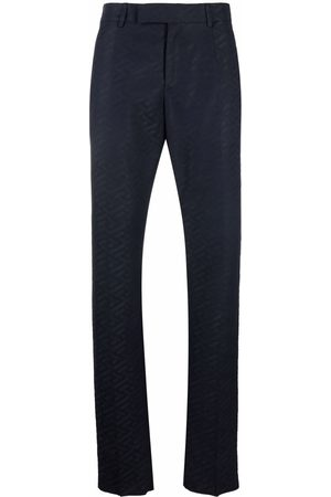 VERSACE Men Formal Pants - Monogram pattern tailored trousers