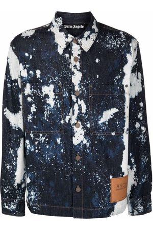 Palm Angels Men Casual - Paint splatter-print shirt