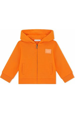 Dolce & Gabbana Logo-patch zip-up hoodie